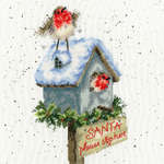 Click for more details of Santa Please Stop Here (cross stitch) by Bothy Threads