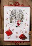 Click for more details of Santa's Elf in Snowy Street Advent Calendar (cross stitch) by Permin of Copenhagen