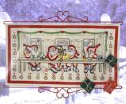 Click for more details of Santa's Elves Advent Calendar (embroidery) by Permin of Copenhagen