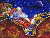 Click for more details of Santa's Midnight Ride (cross stitch) by Dimensions