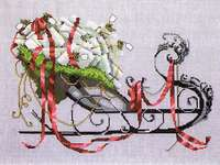 Click for more details of Santa's Sleigh (cross stitch) by Nora Corbett
