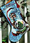 Click for more details of Santa's Snow Globe Stocking (cross stitch) by Dimensions