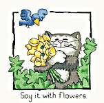 Click for more details of Say it with Flowers (cross stitch) by Peter Underhill
