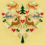 Click for more details of Scandi Heart (cross stitch) by Bothy Threads