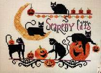 Click for more details of Scaredy Cats (cross stitch) by Kit & Bixby