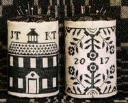 Click for more details of Schoolhouse Coverlet Drum (cross stitch) by Heartstring Samplery