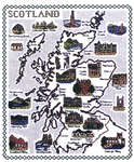 Click for more details of Scotland Map (cross-stitch kit) by Classic Embroidery