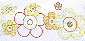 Click for more details of Sea of Flowers Table Runner (embroidery) by Rico Design