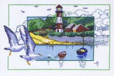 Click for more details of Seagulls (cross stitch) by Permin of Copenhagen