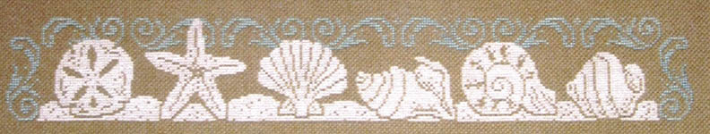 Click for more details of Seashell Silhouette (cross-stitch pattern) by Imaginating
