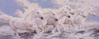 Click for more details of Seaside Horses (cross stitch) by Janlynn