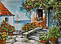 Click for more details of Seaside Paradise (no-count cross stitch) by Needleart World
