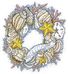 Click for more details of Seaside Wreath (cross stitch) by Imaginating