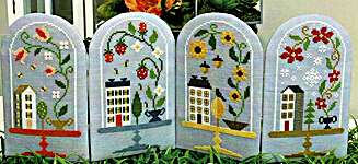 Click for more details of Seasonal Bell Jars (cross stitch) by Tiny Modernist
