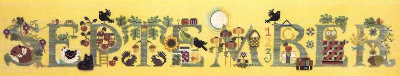 Click for more details of September (cross stitch) by The Cross-Eyed Cricket