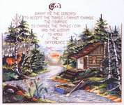 Click for more details of Serenity Prayer Cabin (cross-stitch pattern) by Stoney Creek