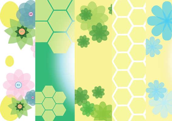 Click for more details of Set of 5 Digital Papers - Spring Flowers (digital downloads) by Julie Lynes