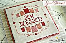Click for more details of Sew Blessed (cross stitch) by October House