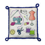 Click for more details of Sewing Pincushion (cross stitch) by Textile Heritage
