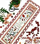 Click for more details of Sewing Room Bell Pull (cross stitch) by Tiny Modernist