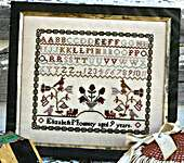 Click for more details of She Hath Wings - Elizabeth Mounsey (cross stitch) by 1897 Schoolhouse Samplers