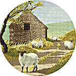 Click for more details of Sheep Track (cross stitch) by John Clayton