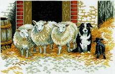 Click for more details of Sheepdog and Sheep (cross stitch) by Eva Rosenstand