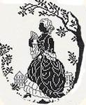 Silhouette - Lady strolling in her garden