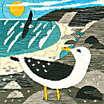 Click for more details of Silken Scenes - Seagulls (long-stitch) by Bothy Threads