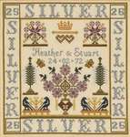Click for more details of Silver Wedding Anniversary Sampler (cross-stitch kit) by The Historical Sampler Company