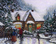 Click for more details of Skater's Pond (cross-stitch kit) by Thomas Kinkade