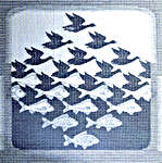 Click for more details of Sky and Water by M. C. Escher (cross stitch) by Permin of Copenhagen