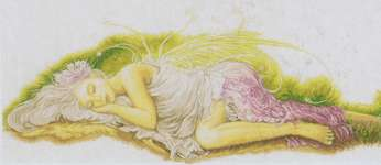 Click for more details of Sleeping Angel (cross-stitch kit) by Lanarte