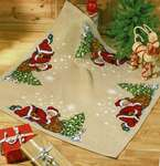 Click for more details of Sleeping Santa Christmas Tree Skirt (cross stitch) by Permin of Copenhagen