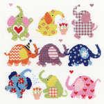 Click for more details of Slightly Dotty Elephants (cross stitch) by Bothy Threads