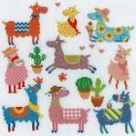Click for more details of Slightly Dotty LLamas (cross stitch) by Bothy Threads