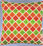 Click for more details of Small Diamond Cushion Front (tapestry) by Vervaco