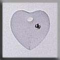 Click for more details of Small Frosted Heart Crystal (beads and treasures) by Mill Hill