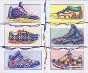 Click for more details of Snazzy Sneakers (cross stitch) by Vickery Collection