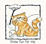 Click for more details of Snow fun for me (cross stitch) by Peter Underhill