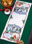 Click for more details of Snow Scene Christmas Table Runner (cross stitch) by Permin of Copenhagen