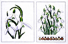 Click for more details of Snowdrops (cross stitch) by Thea Gouverneur