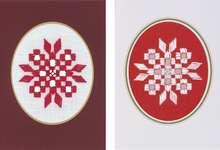 Click for more details of Snowflake Hardanger Christmas Cards (hardanger) by Permin of Copenhagen