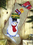 Snowman Christmas Stocking