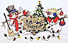 Click for more details of Snowman Welcome (cross stitch) by Stoney Creek