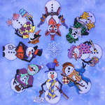 Click for more details of Snowmen a la Round (cross-stitch pattern) by Glendon Place