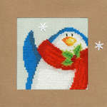 Click for more details of Snowy Penguin Christmas Card (cross stitch) by Bothy Threads