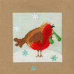 Click for more details of Snowy Robin Christmas Card (cross stitch) by Bothy Threads