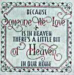 Click for more details of Someone We Love (cross stitch) by Glendon Place