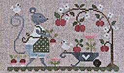 Click for more details of Souris Au Jardin (cross stitch) by Tralala